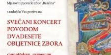 Dvadeseta obljetnica zbora Bašćina