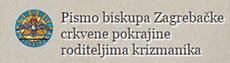 Pismo biskupa roditeljima krizmanika
